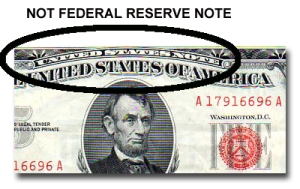 Not a Federal Reserve Note